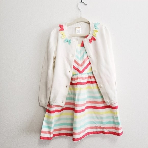 Gymboree Colorful Toddler Dress and Sweate…